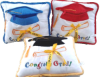 "12""X12"" 3col.Grad. pillows w/pocket"