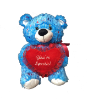 "16"" Valentine blue sparkle bear"