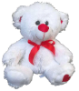 "13"" Valentine white bear"