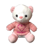"10"" Sweetheart bear in sweater"
