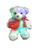 "12"" Valentine LED blue bear"