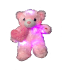 "12"" LED Valentine pink bear"