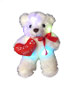 "12"" Valentine LED white bear"