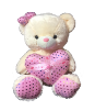 "26"" Valentine creamy bear/lights/song"