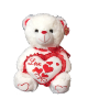 "17"" Valentine white bear"