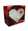 "13""H x14""W  red glitter bag (SKU: JH021)"
