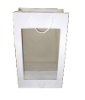 "18"" white gift bag/window (SKU: WB-L/W)"
