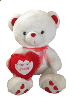 "36"" white Valentine bear (SKU: E8160-91)"