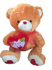"36"" Brown Valentine bear (SKU: E8161-91)"