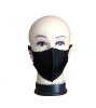Washable black fabric mask (SKU: IT200507BK)