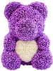 "14"" Purple rose bear with box (SKU: EK-2015PL)"