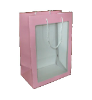"11"" Pink gift bag/window (SKU: WB-S/P)"