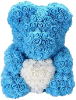 "14"" Blue rose bear with box (SKU: EK-2015BL)"