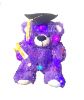 "8"" Grad.LED purple sparkle bear (SKU: EK-830/8PLG)"