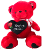 "36"" Red Valentine's Day Bear (SKU: FY1651-91B)"