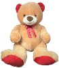 "39"" Valentine brown bear (SKU: G47655A)"