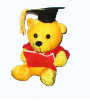 "7"" Graduation golden bear/book (SKU: EK-946G)"