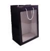 "14"" Black gift bag/window (SKU: WB-M/BK)"