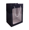 "11"" Black gift bag/window (SKU: WB-S/BK)"