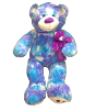 "50"" Lavender Tie Die Bear with Baby"