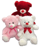 "16"" VDAY BEAR 3 COLORS"
