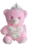 "12""  Mother's day pink bear/tiara"
