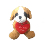 "10"" Get Well st. bernard dog"