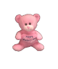 "6"" Mother's day pink bear"