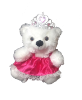 "10"" White bear in skirt & tiara"