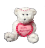"14"" Mothers day white bear/jewelry"