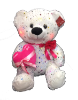"20"" Mothers day white sparkle bear/lights/song"