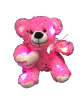 "8"" Mothers day LED pink sparkle bear"