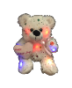 "8"" Mothers day LED white sparkle bear"