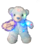 "12"" Mothers day LED blue bear"