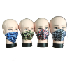 4 asst. washable camouflage masks