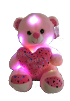 "12"" LED Mothers day pink bear"