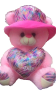 "12"" Mothers day pink bear/hat"