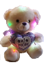"12"" LED Mothers day creamy bear"
