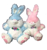 "20"" Easter pink/blue bunny"